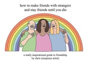 Image of how to make friends with strangers...- hardback book- signed or signed and personalised