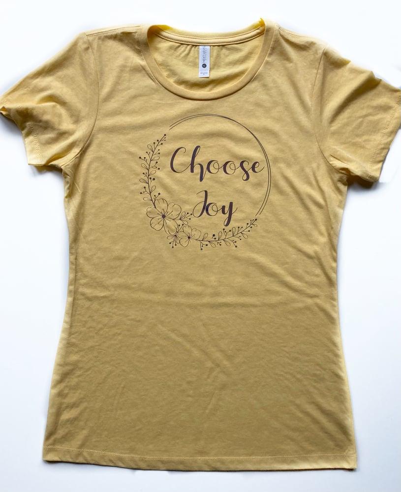 Image of Yellow Choose Joy/ Metallic