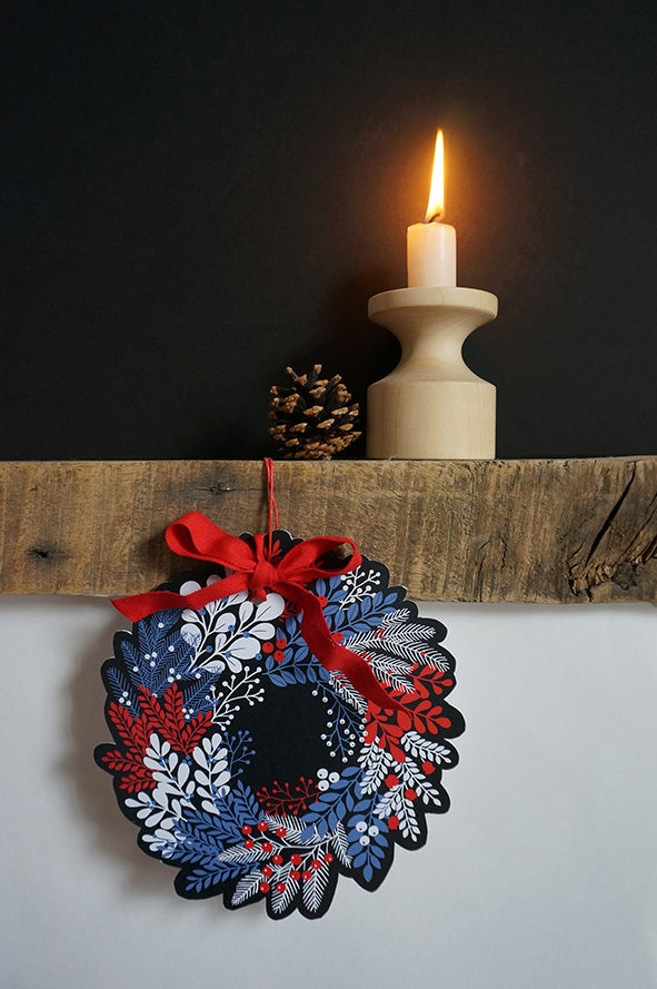 Image of Wreath - Paper Cut Out Decoration