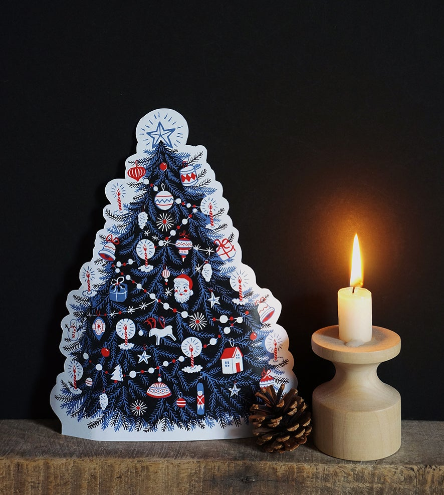 Image of Christmas Tree - Paper Cut Out Decoration
