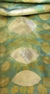 Vesica Piscis - ecoprint silk scarf