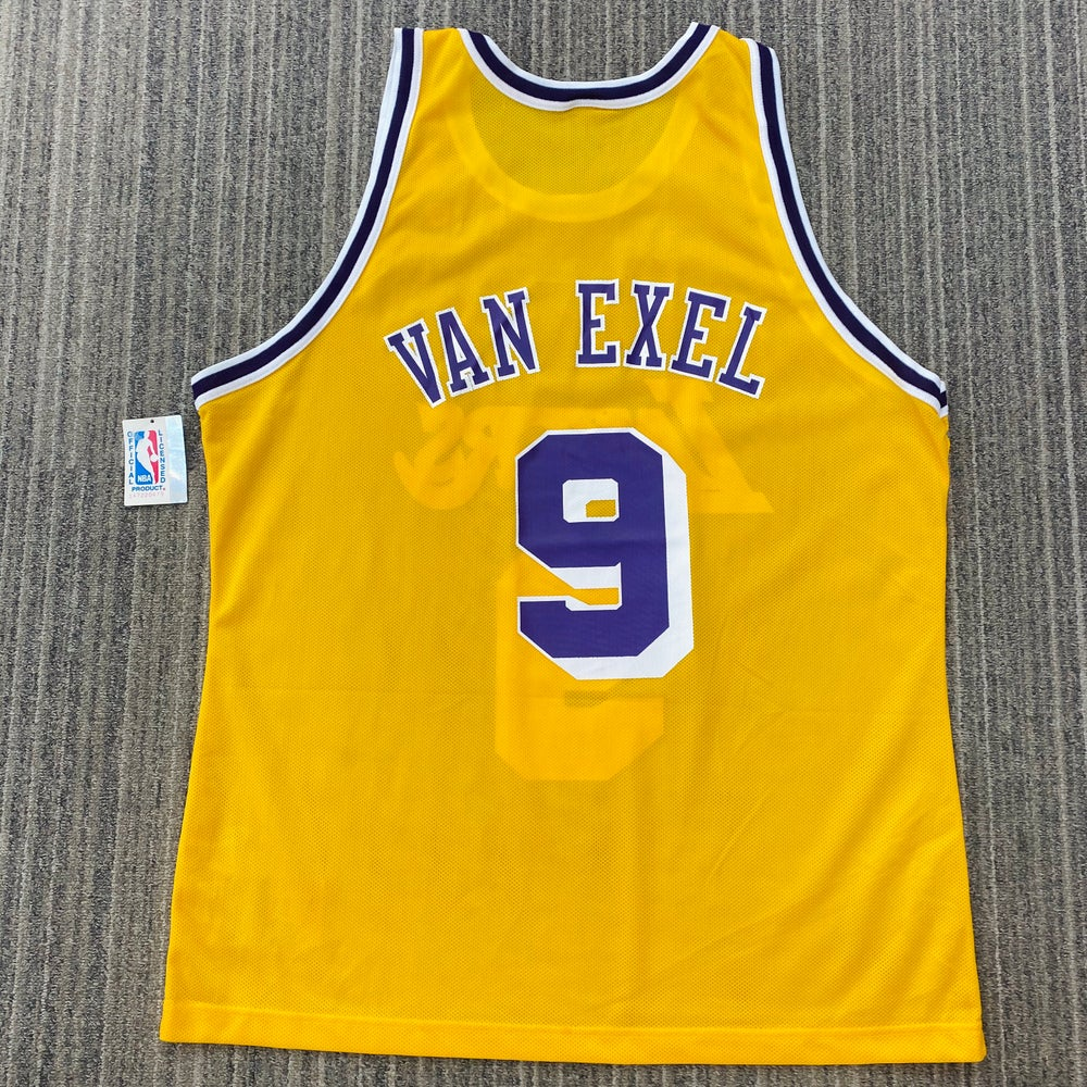Image of Deadstock Vintage Nick Van Exel Los Angeles Lakers Champion Jersey