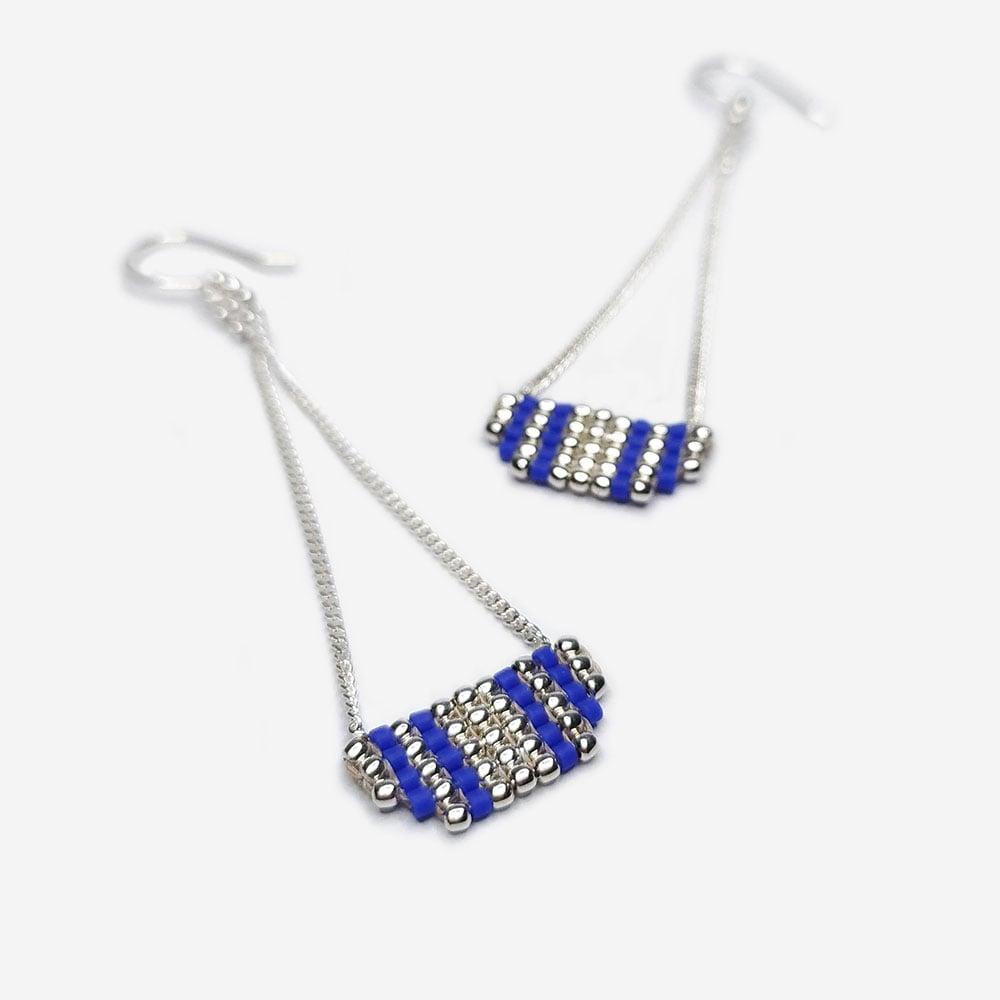 """Image of boucles d'oreilles bleues """"Inca"""""""