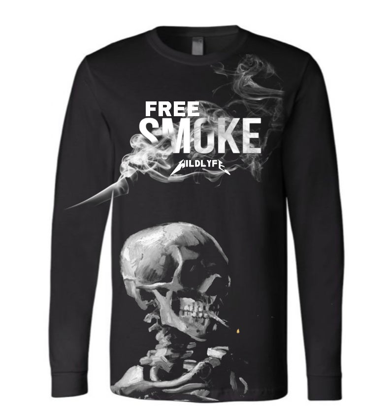 Image of Free smoke Long sleeve T-shirt