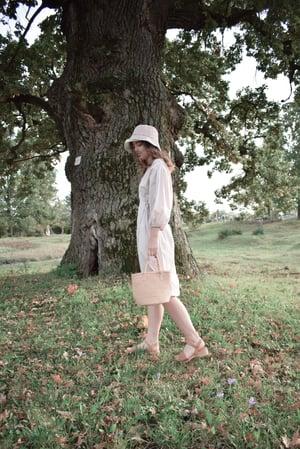 Image of KLOTILD Cotton Puff Sleeve Wrap Dress