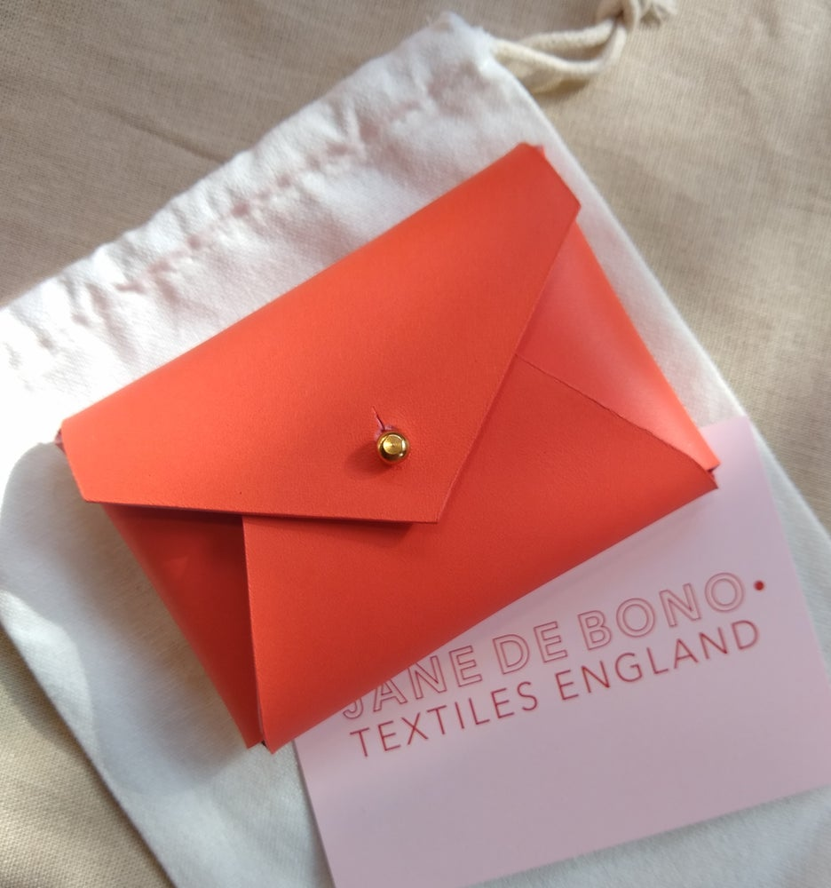 Image of Personalised Envelope Leather Cardholder