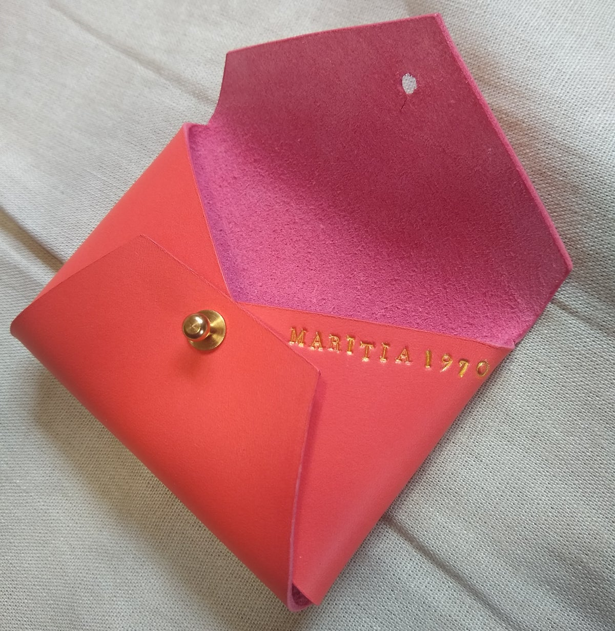 Image of Custom Made Vegetable Tan Leather Cardholder