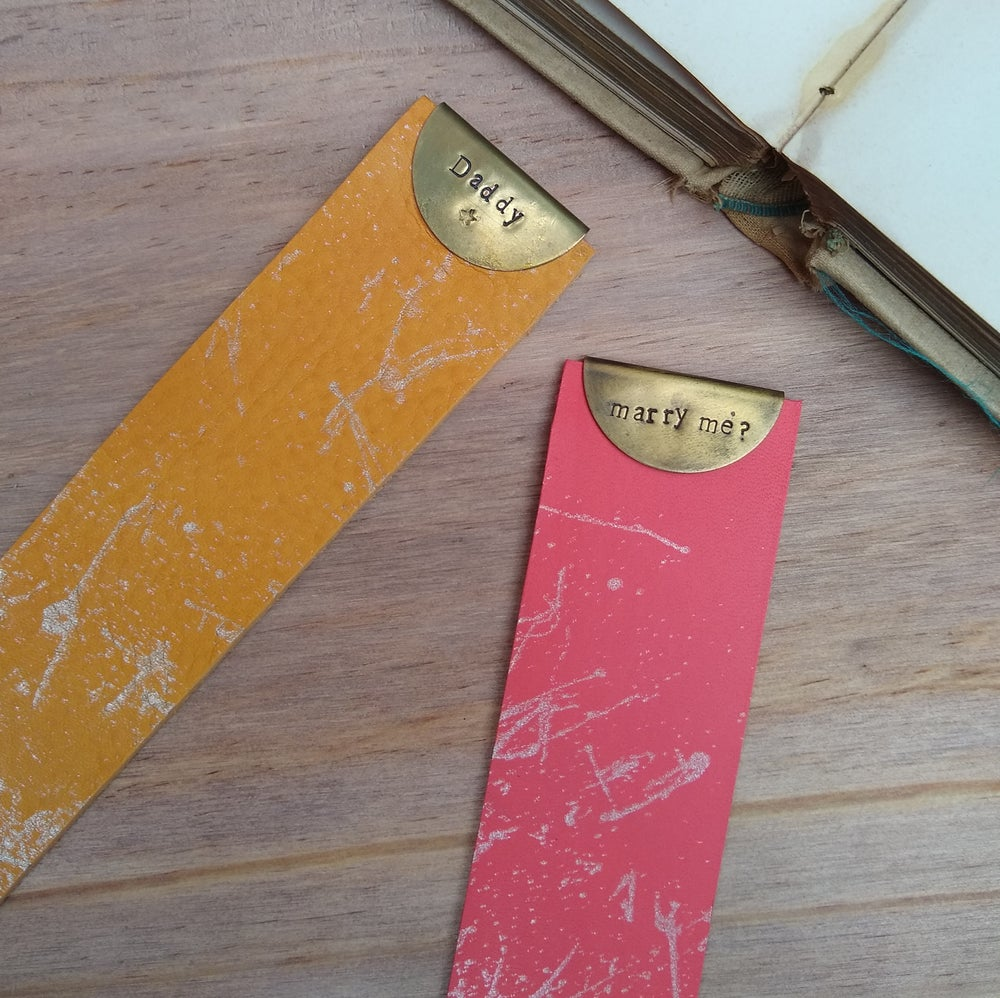 Image of  Vegetable Tan Leather Bookmarks