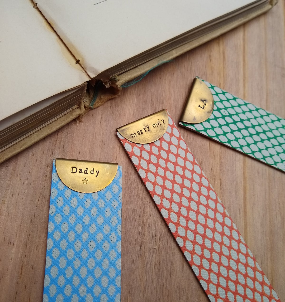 Image of Personalised Leather Bookmark