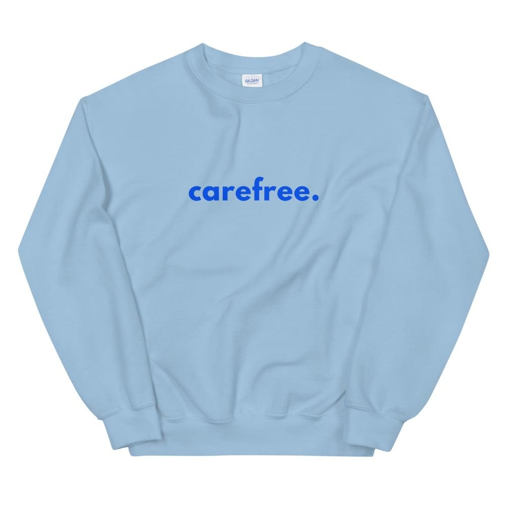 Image of Unisex Carefree Baby Blues Sweatshirt