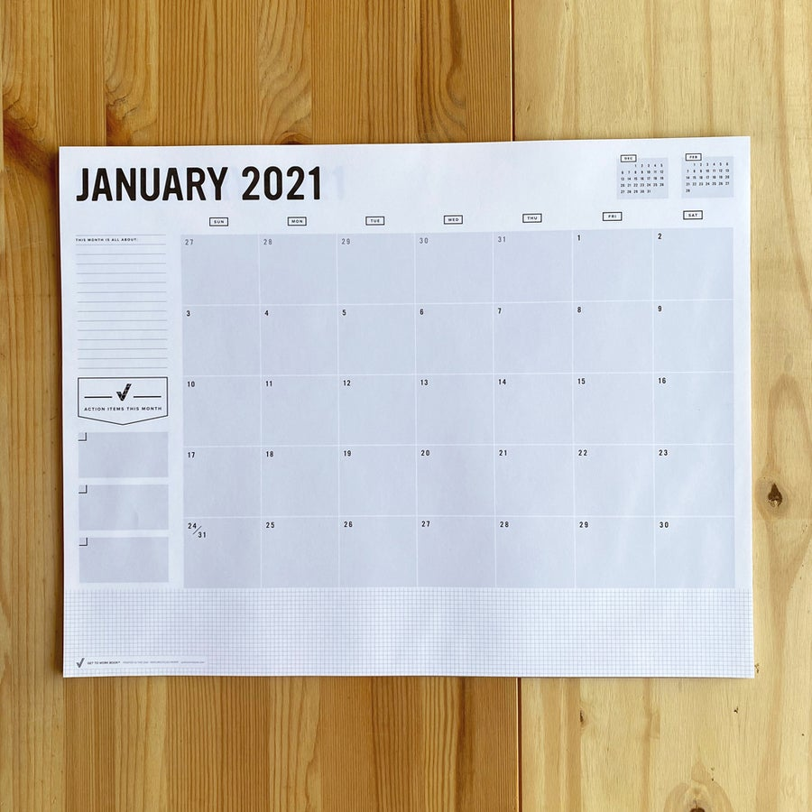 Image of 2021 DESK CALENDAR