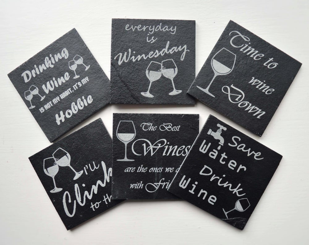 Wine Time! - 6 piece Coaster Set