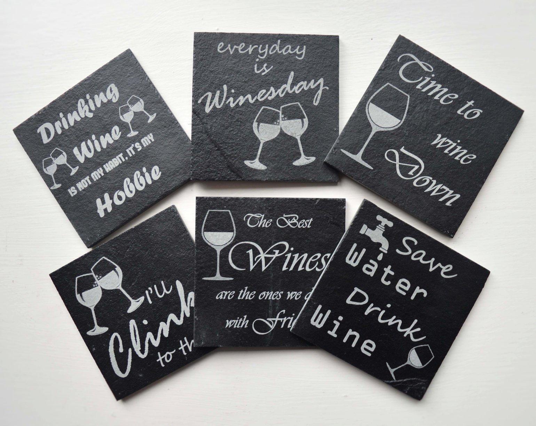 Image of Wine Time! - 6 piece Coaster Set