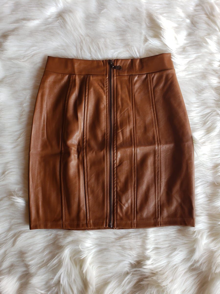 Image of Kerry Mini Skirt (brown)