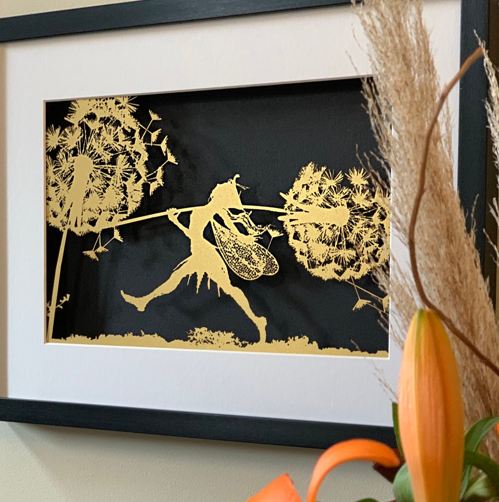Image of Whimsy's Pride - Fantasy Wire Framed Papercut
