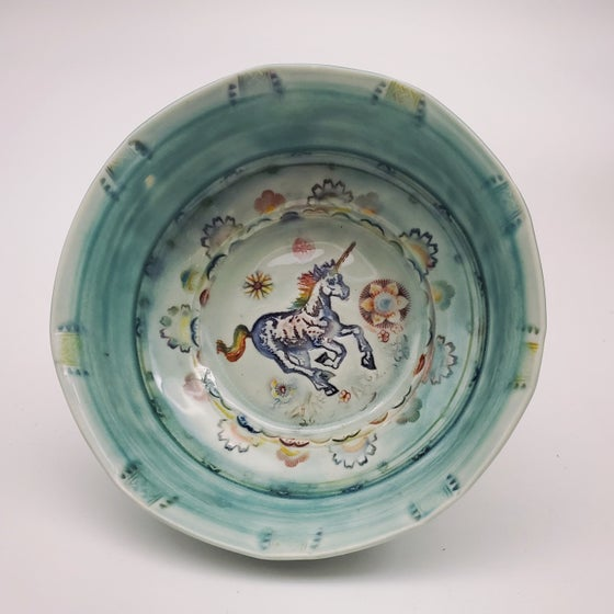 Image of Rainbow Unicorn Porcelain Dish