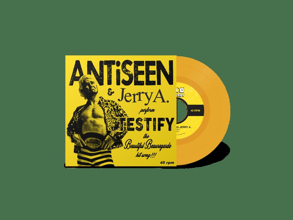 "ANTiSEEN & Jerry A - ""Testify"" 7"" Single (LTD ORANGE VINYL)"