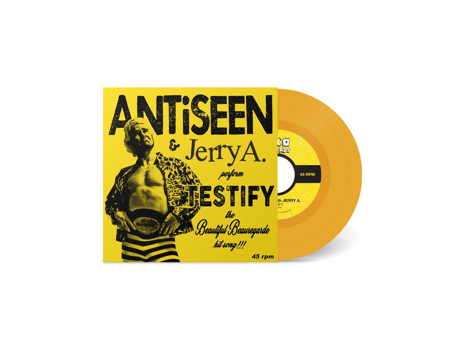 "Image of ANTiSEEN & Jerry A - ""Testify"" 7"" Single (LTD ORANGE VINYL)"