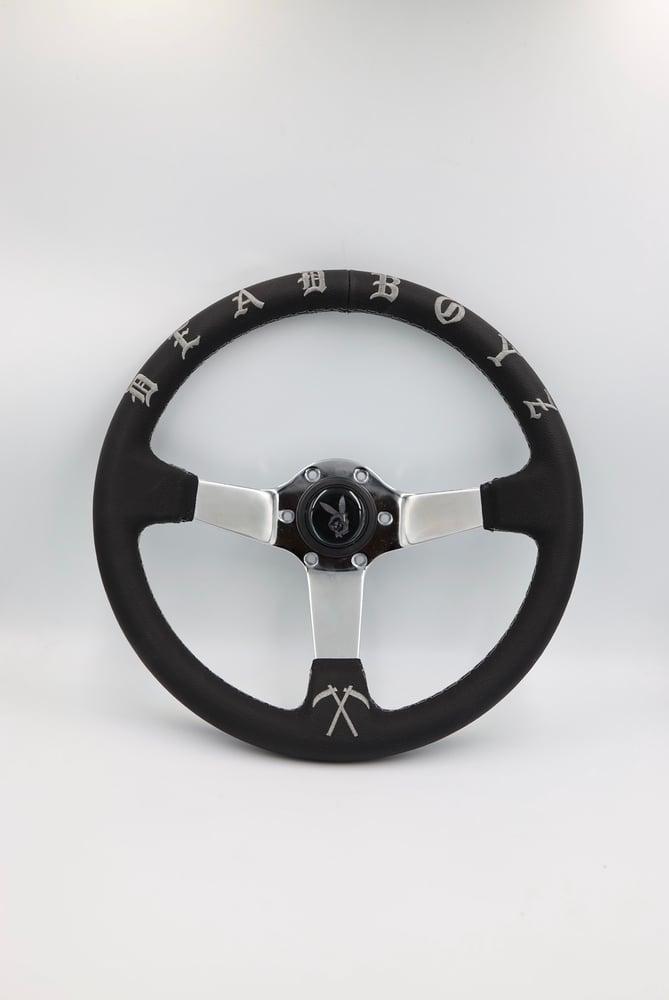 Image of DEADBOYZ ( leather steering wheel )