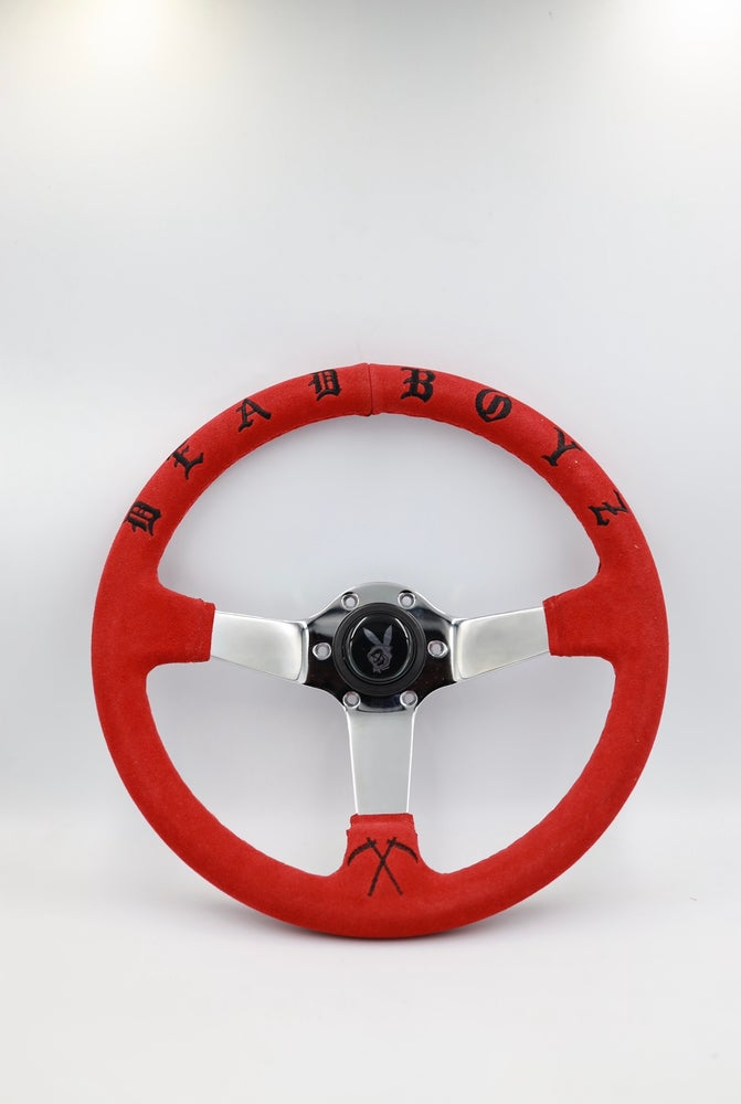 Image of DEADBOYZ (suede steering wheel)