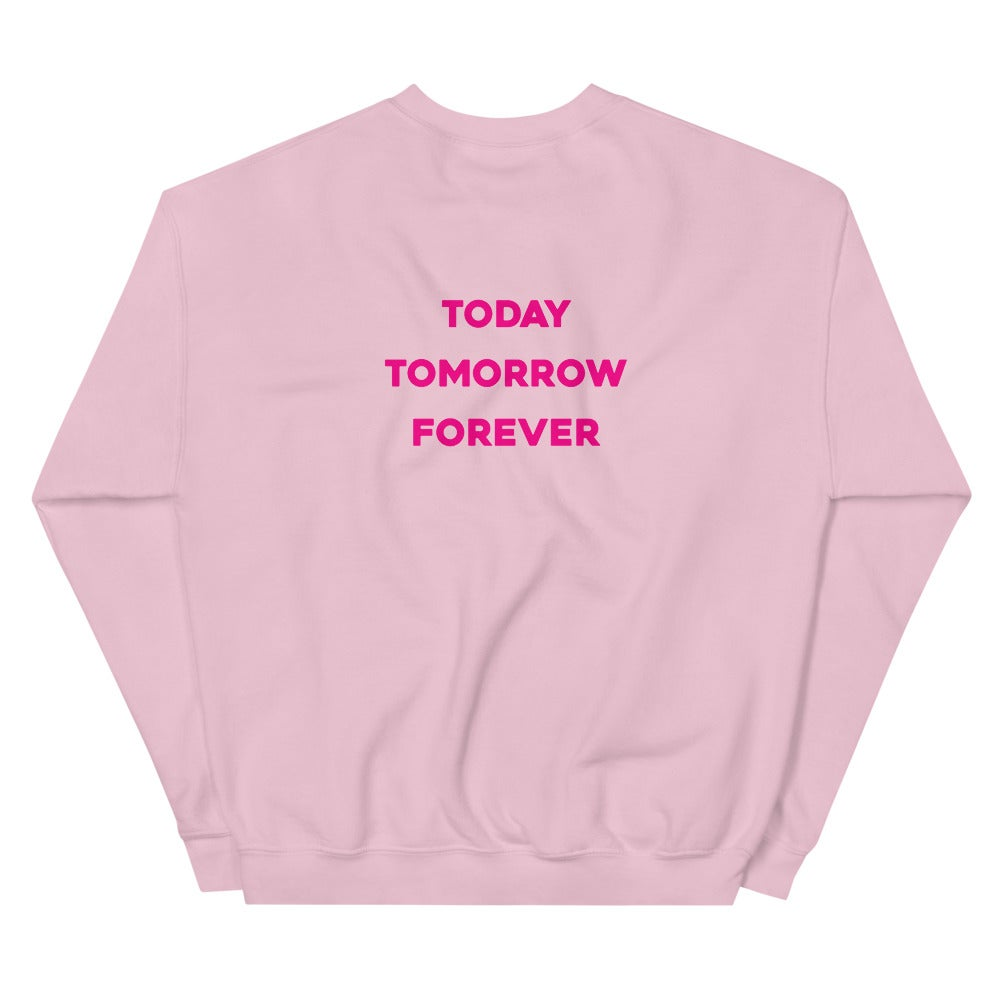Image of Unisex Protect Black Women Pink Sweatshirt