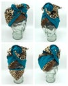 SCULPTURAL HEAD WRAPS ...assorted animal print 2 tone