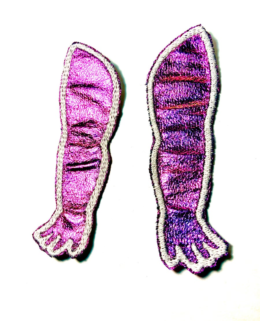 Image of Purple Holographic Doll Arm Patches
