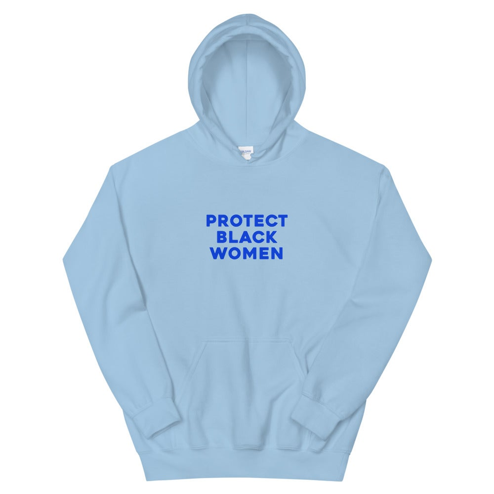 Image of Unisex Protect Black Women Baby Blues Hoodie