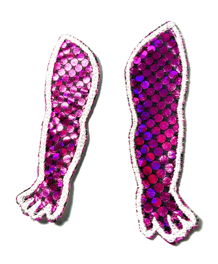 Image of Pink Holographic Doll Arm Patches
