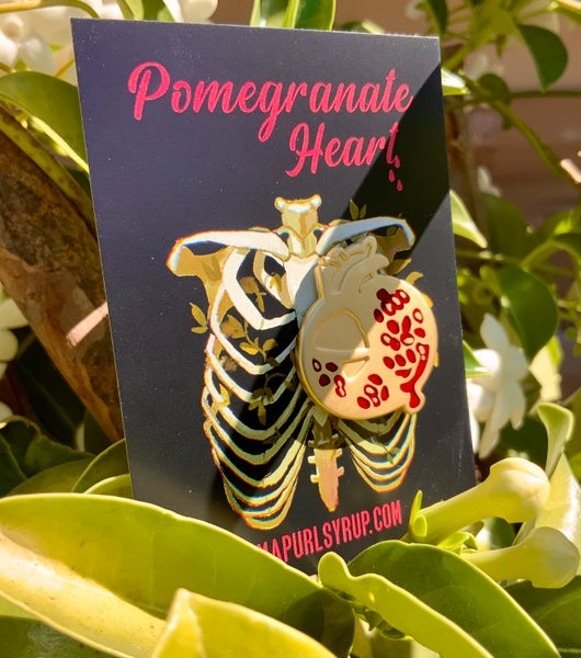 Image of Pomegranate Heart Enamel Pin