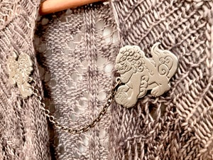 Image of Guardian Lions Collar Pin