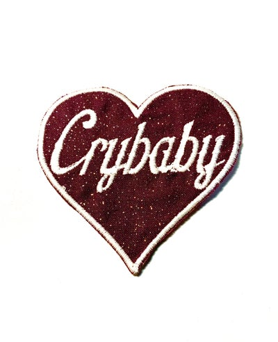 Image of Purple Glitter Crybaby Patch