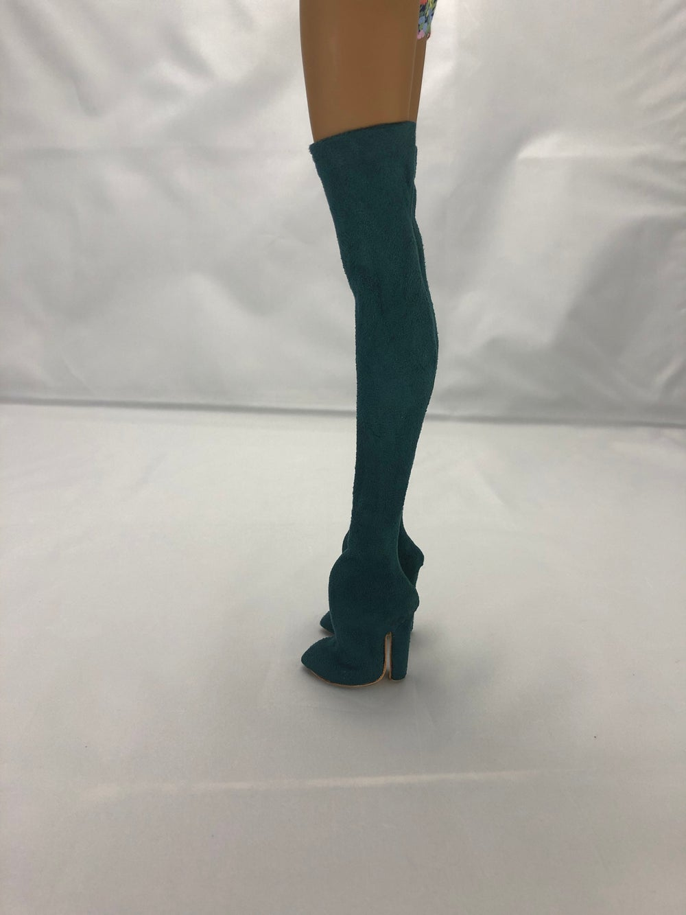 Teal Suede Thigh High Boots: Pidgin Doll p2