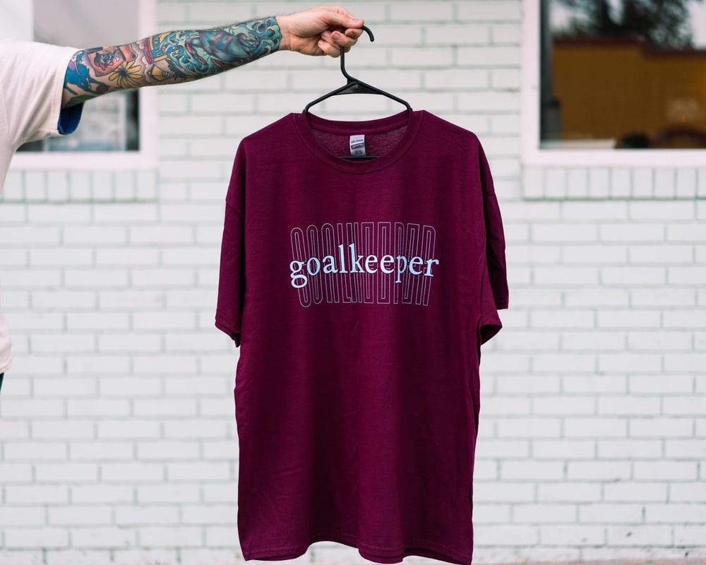 Image of Maroon Double Goalkeeper Logo Shirt