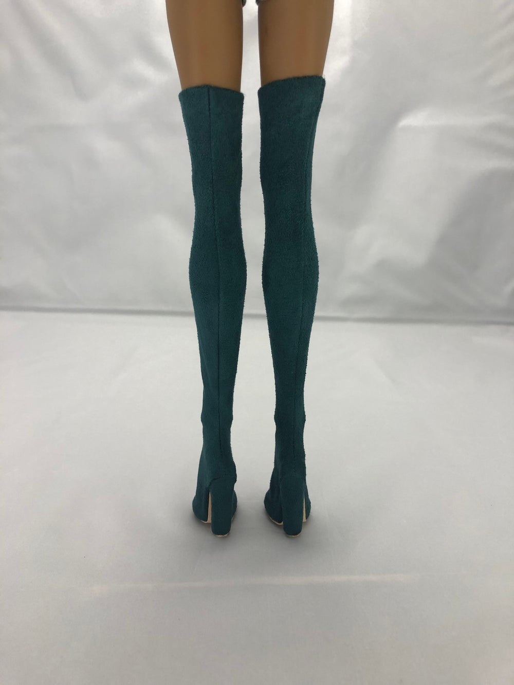 Teal Suede Thigh High Boots: Pidgin Doll P3