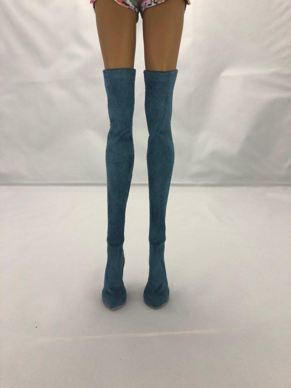 Blue Thigh High Boots: Pidgin Doll p1