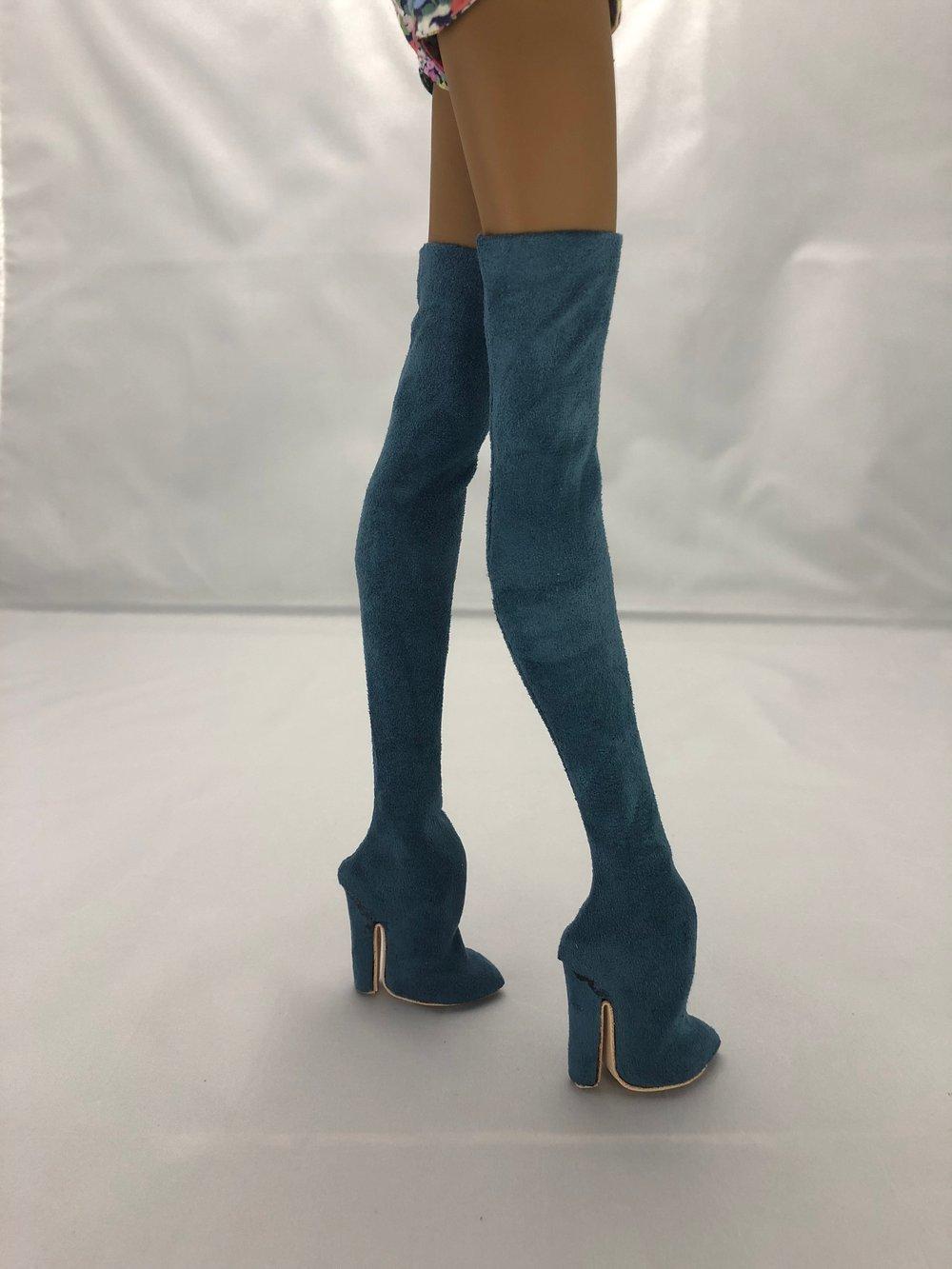 Blue Thigh High Boots: Pidgin Doll P3