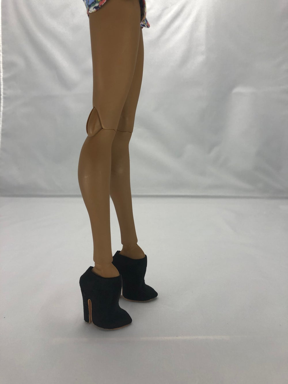 Black Suede Ankle Boot: Pidgin Doll