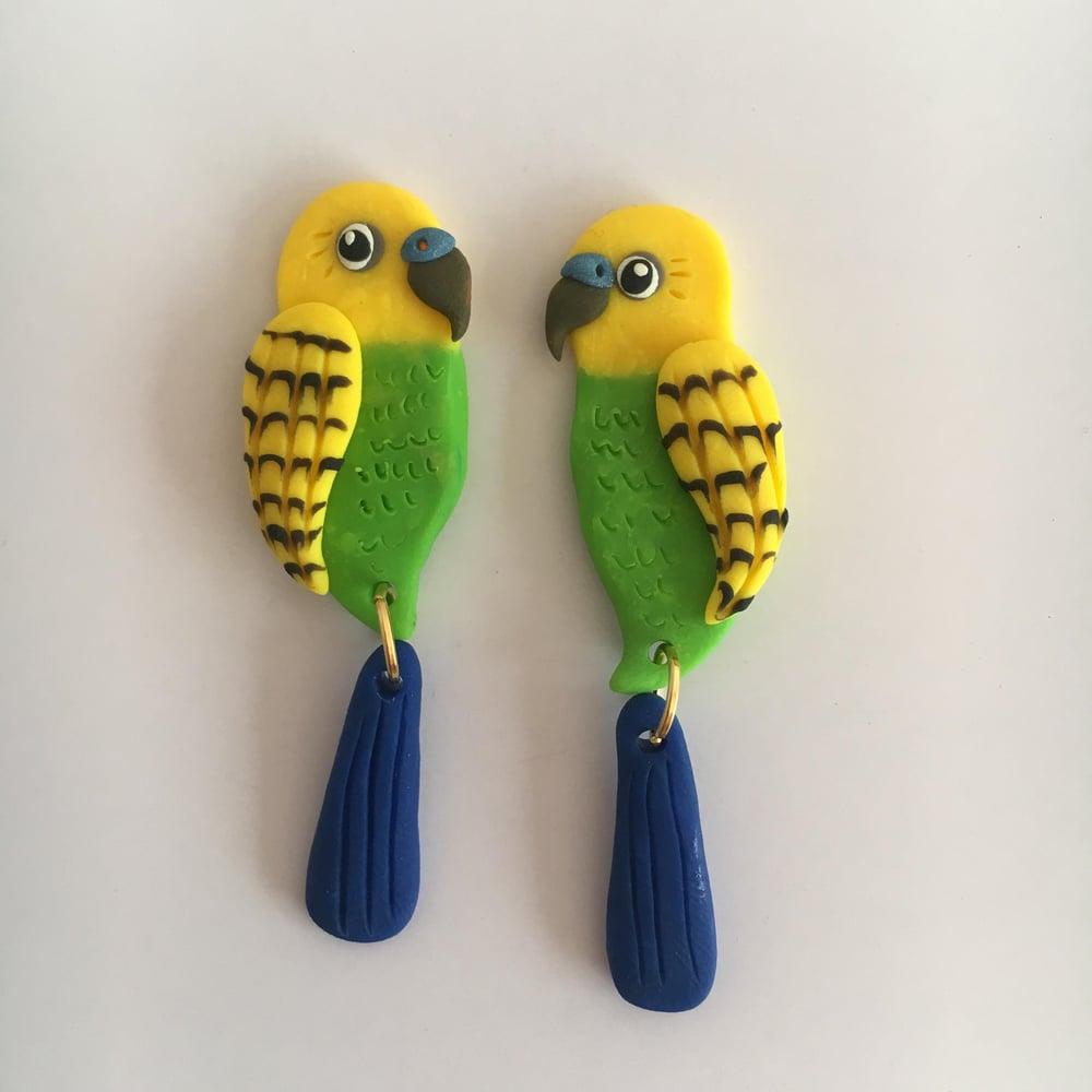 Your Pet Bird - custom made earrings