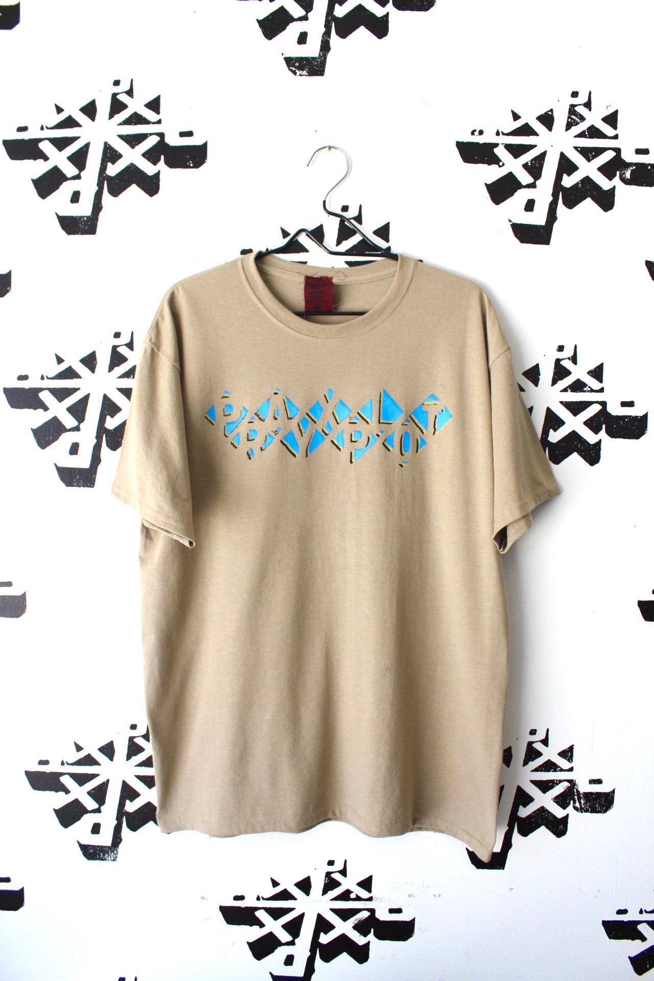 Image of stack tee in tan