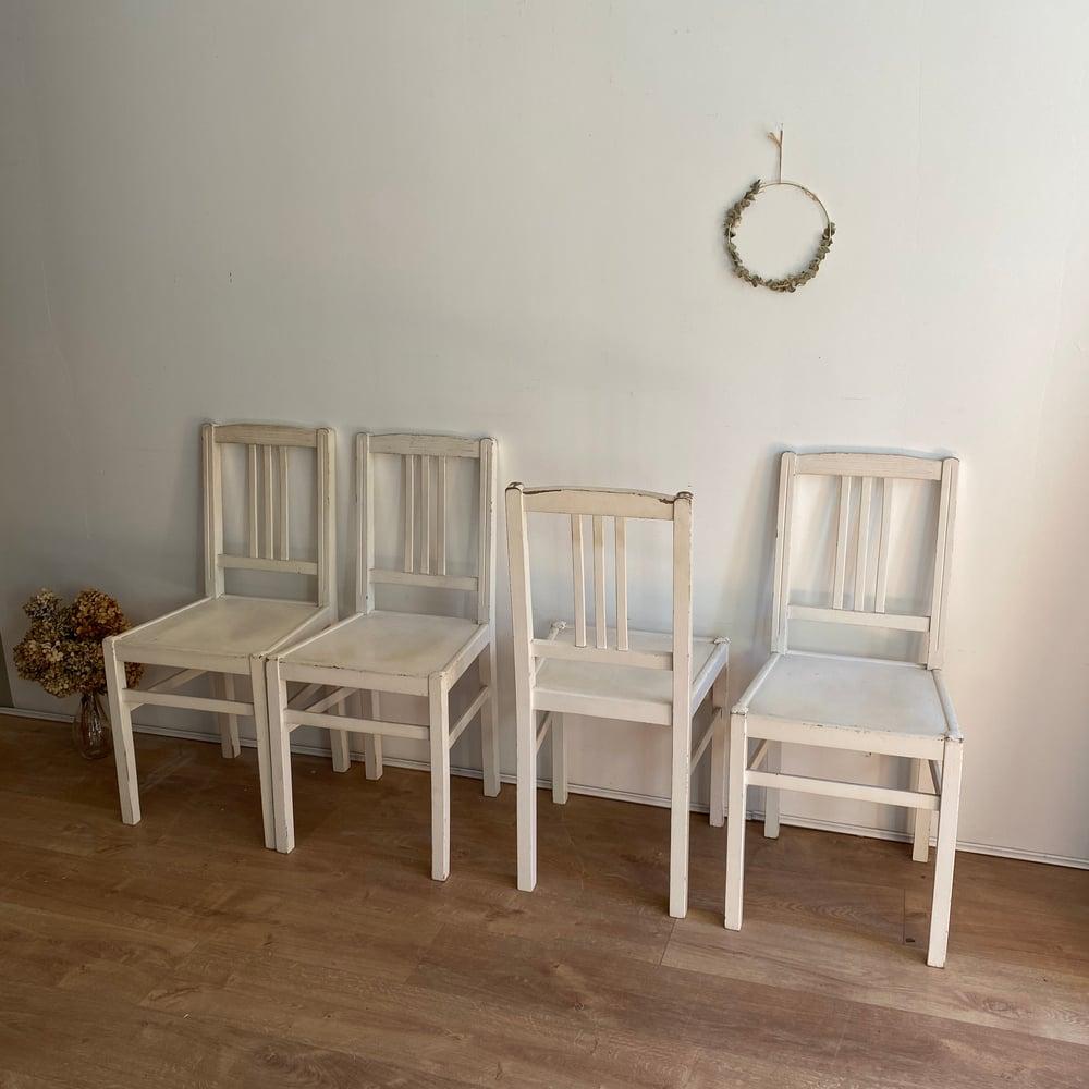 Image of Lot de 4 chaises patinées #105
