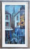 Mid-century Modern Swedish Artist 'Paris Street Corner'