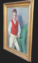 Mid-century Modern Swedish Artist 'Portrait of a Young Boy'