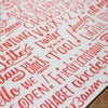 Red Lettering