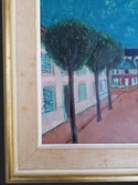 Mid-century Modern Swedish Artist 'Provincial French Town'