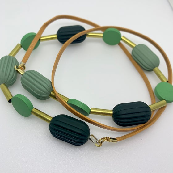 Image of Pod Necklace - Greenie