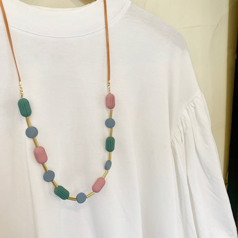 Image of Pod Necklace - Greys n Blues
