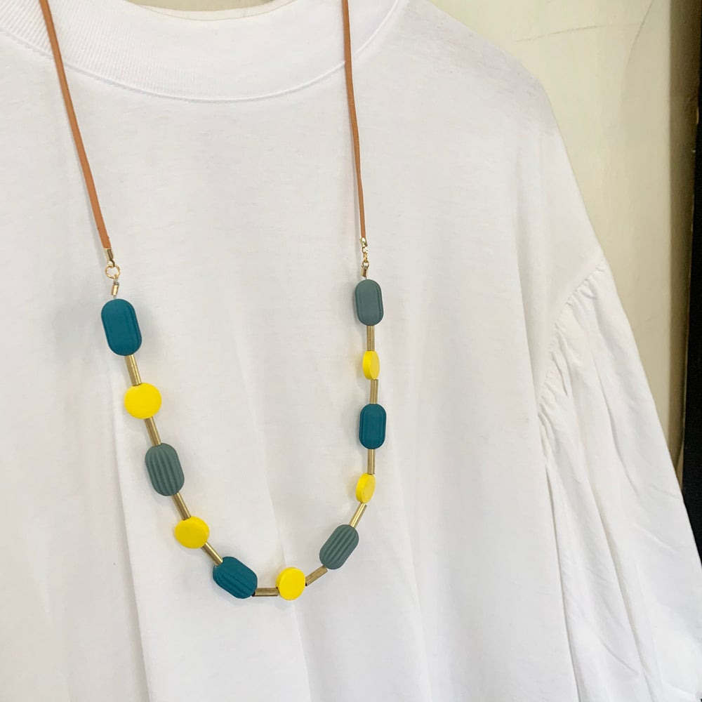 Image of Pod Necklace - Pop of Yellow