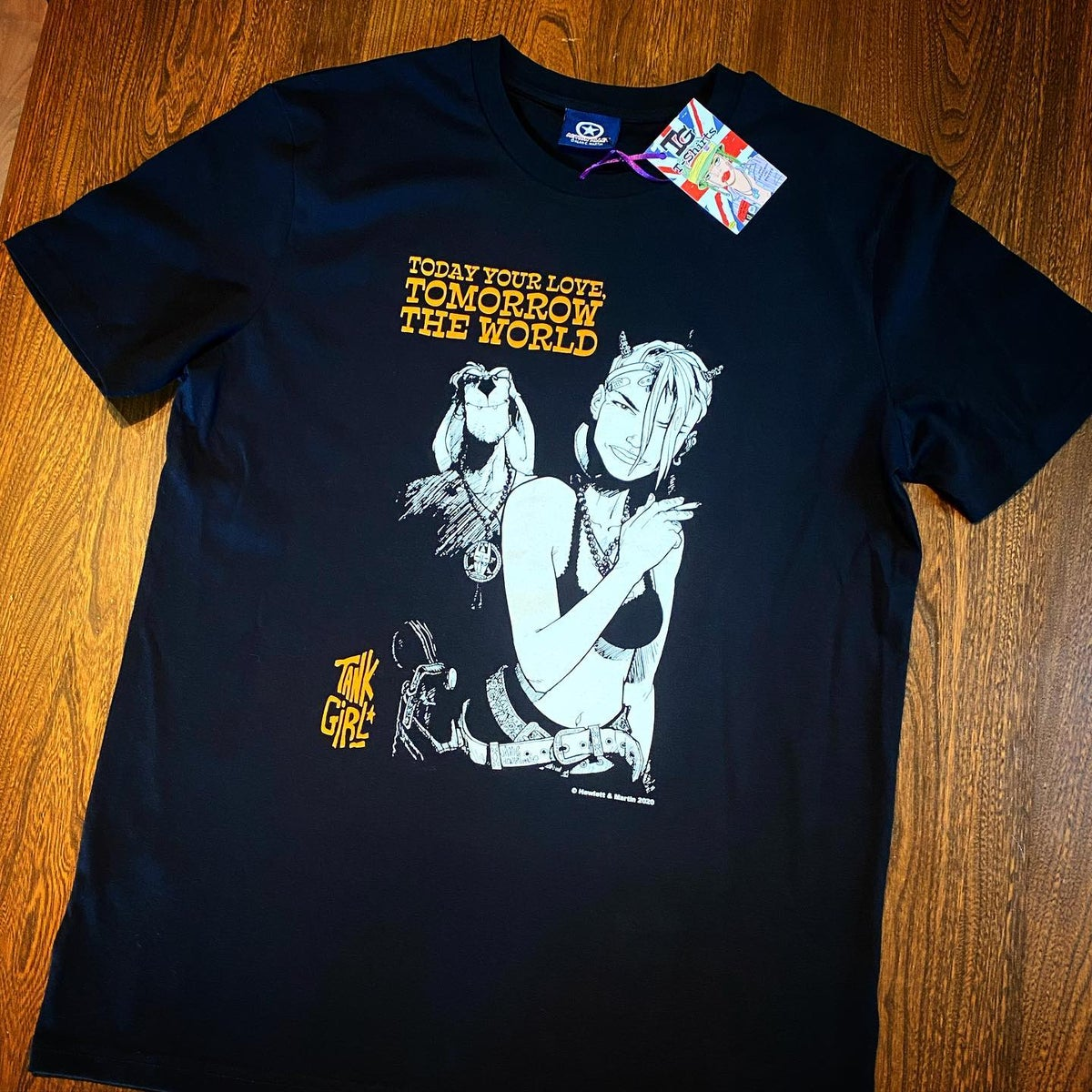 """Image of TANK GIRL - """"TODAY YOUR LOVE, TOMORROW THE WORLD"""" T-SHIRT - ORGANIC"""