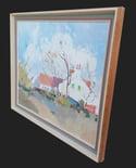 Mid-century Modern Swedish Artist  'Country Cottage'